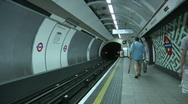 Subway - Tube Underground Train Arrives, London Stock Footage