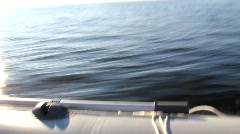 fast moving motor boat - stock footage