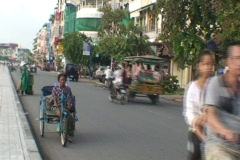 CAMBODIA-DISABLED-WHEELCHAIR 1 Stock Footage