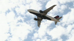 Jet Commercial Airliner Flying Overhead Stock Footage