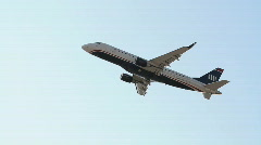 Jet Commercial Airliner Flying Overhead - stock footage