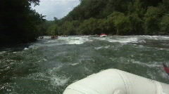 White Water Rapids: River Rafting POV - stock footage