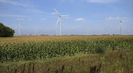 Stock Video Footage of Windmill Turbines Green Wind Energy