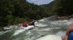 River Rafting: Point of View Stock Footage