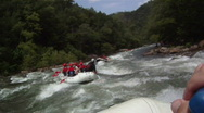 Stock Video Footage of River Rafting: Point of View