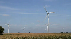 Windmill Turbines Green Wind Energy - stock footage