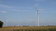 Windmill Turbines Green Wind Energy Stock Footage