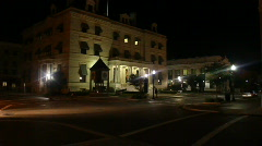 Stock Video Footage of Escambia County Attorney Building Night Time