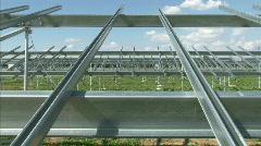 Building of solar powerplant Stock Footage