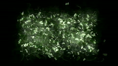 Abstract float fragment letter&character explosion,debris particle,dirt dust. Stock Footage