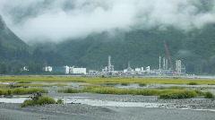 Oil refinery Valdez Alaska P HD 8562 Stock Footage