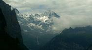 Breithorn time lapse Stock Footage