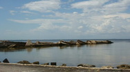 Tampa Bay And Rocks Stock Footage