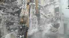 Demolition - Wall Tearing Stock Footage