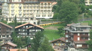Cog railway leaving wengen Stock Footage