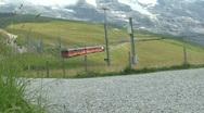 Cog railway top of europe Stock Footage