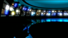 News Studio 9 - Virtual Green Screen News Background - stock footage