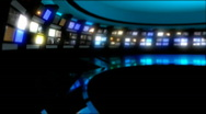 News Studio 9 - Virtual Green Screen News Background Stock Footage