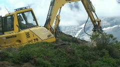 construction vehicle in front of eiger 3 - stock footage