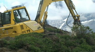 Construction vehicle in front of eiger 3 Stock Footage