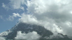 eiger time lapse 3 - stock footage