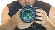 Photographer Focusing Camera Stock Footage