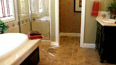 Luxury Home Master Bath Stock Footage