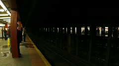 SubwayNYpan - stock footage