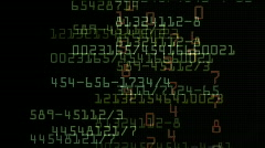 Stock exchange numbers data,big data tech,hacker scan search data trend. Stock Footage