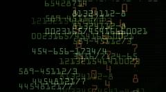 Looping stock exchange data,computer program languages.Files,storage,backup,math - stock footage