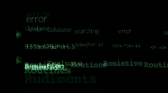 Database search letters character alphabet matrix input submit background. Stock Footage