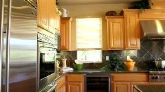Luxury Home Kitchen Stock Footage