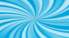 Seamless Blue abstract rays cartoon sun-burst, HD 1080i 25fps Stock Footage