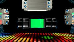 Dance Floor with Green Screen 1 Stock Footage