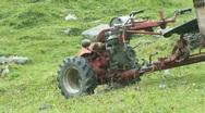 Mountain farmer vehicle Stock Footage