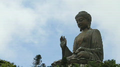 Giant Buddha (real time) Stock Footage