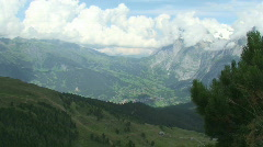 view on grindelwald 2 - stock footage