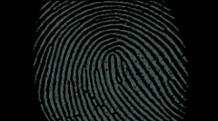 Fingerprint identity scan password,spy hacker search Gene sequencing tech. Stock Footage
