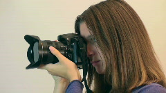 Photographer Shooting Female Stock Footage