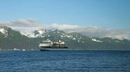 Cruise ship Seward Alaska birds fly Alaska P HD 8133 Stock Footage