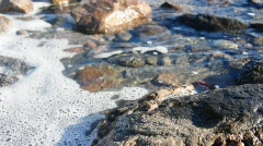 water and rocks - stock footage