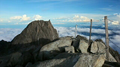 360 degree panorama from Mt. Kinabalu Low's peak Stock Footage
