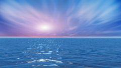 Water Series: Ocean Sunrise Sky Stock Footage
