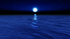 Water Series: Moonlight Ocean Stock Footage