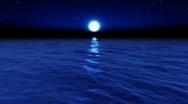 Water Series: Moonlight Ocean Stock Footage