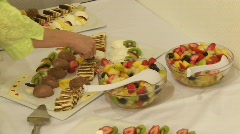 Dessert, Mousse, Ice, Fruits Stock Footage