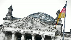 Reichstag in Berlin - German Parliament - Variant 3 Stock Footage