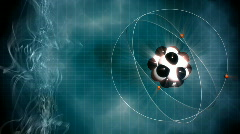Atom model. Loop science background Stock Footage