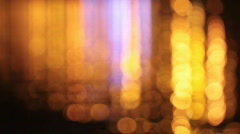 Light reflexions on water at night Stock Footage