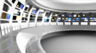 Stock Video Footage of News Studio 9 - Virtual Green Screen News Background White